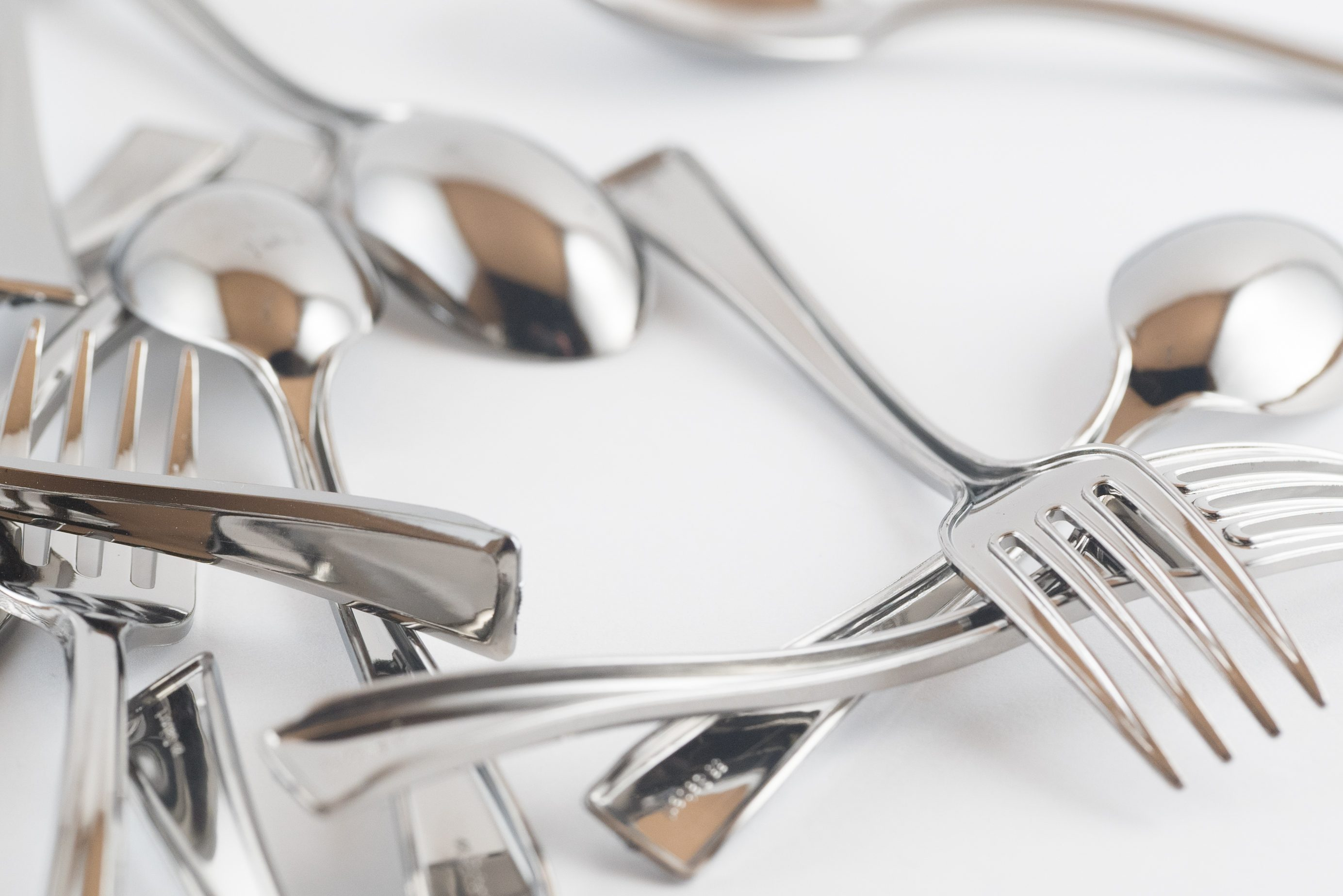 Small Plastic Silver Cutlery - Assorted Macro Images 1