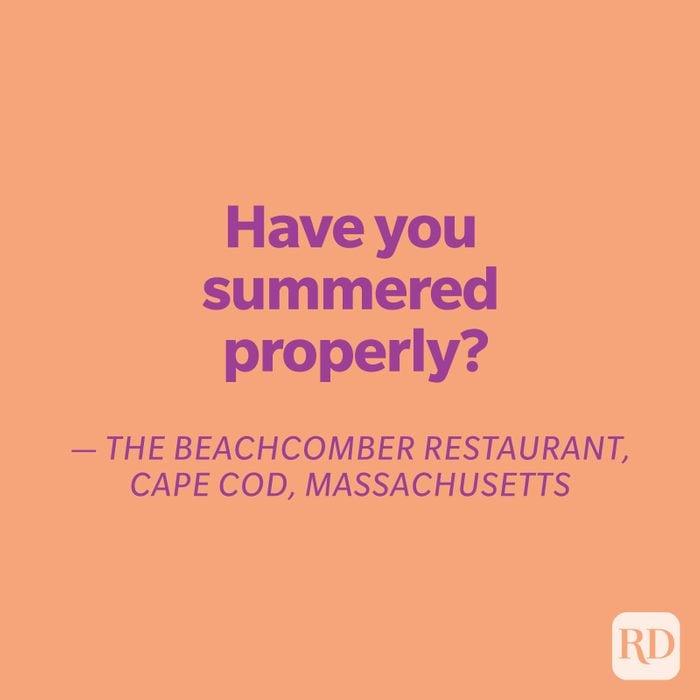 The Beachcomber quote