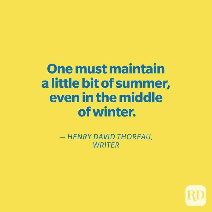 Thoreau quote on yellow