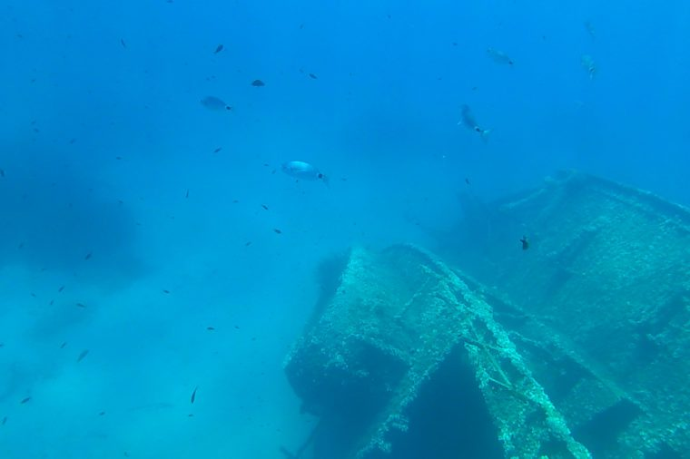 underwater wreck of the elviscot