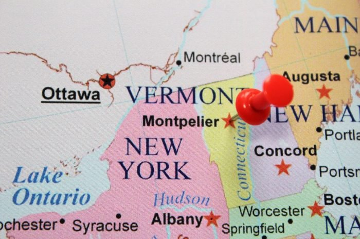 Montpelier pinned on map.