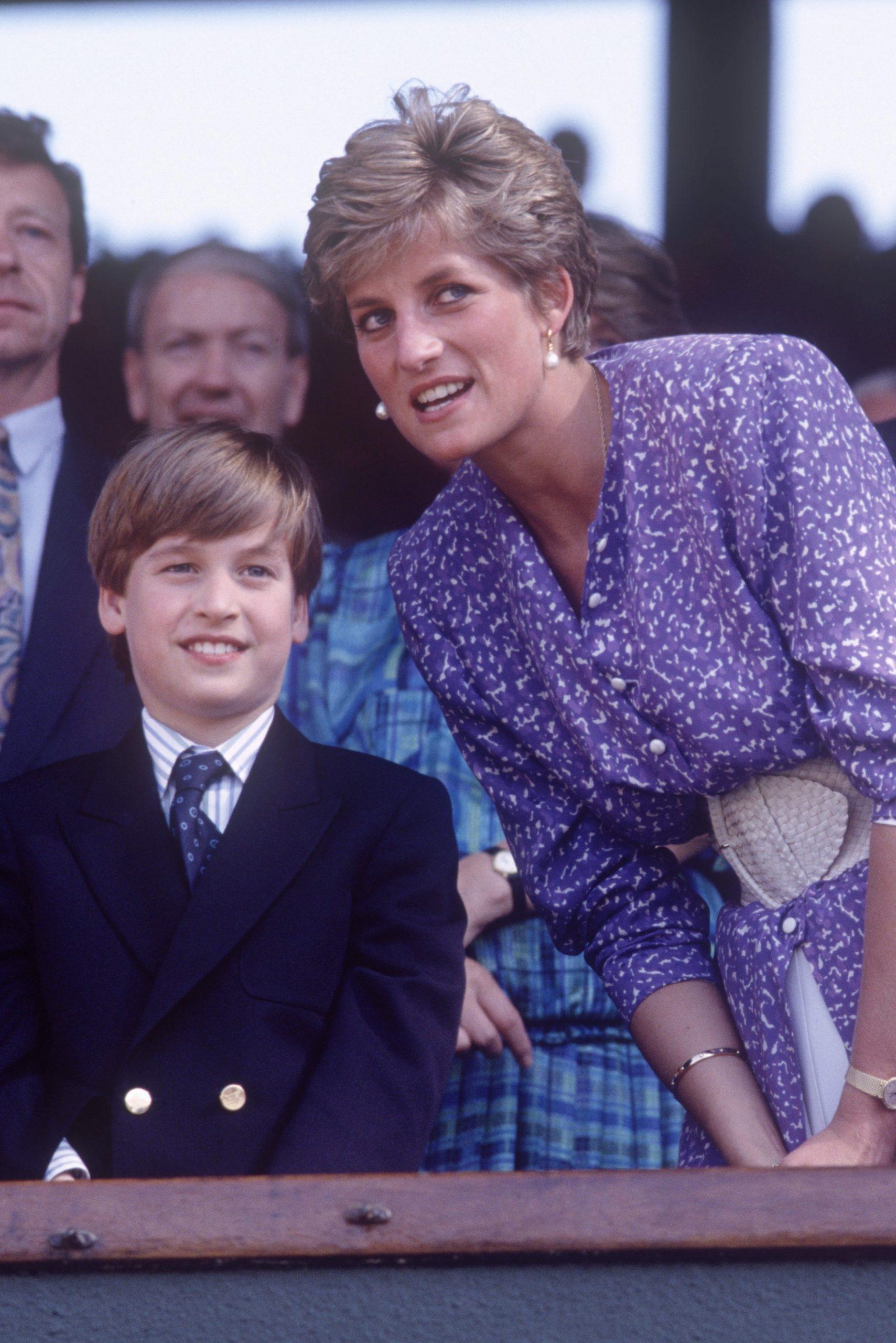 Prince William and Princess Diana