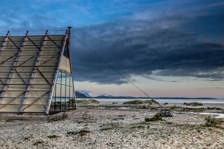 World's largest sauna, Sandhornøya, Norway - Jun 2015