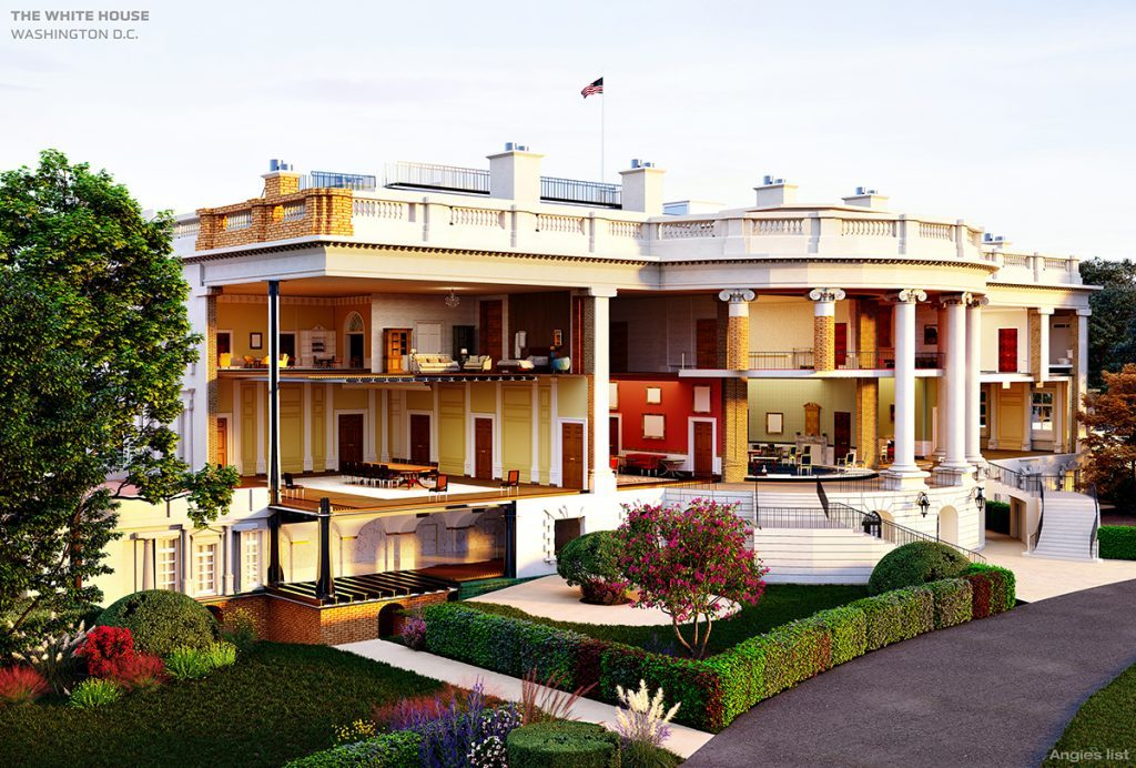 white house cutaway