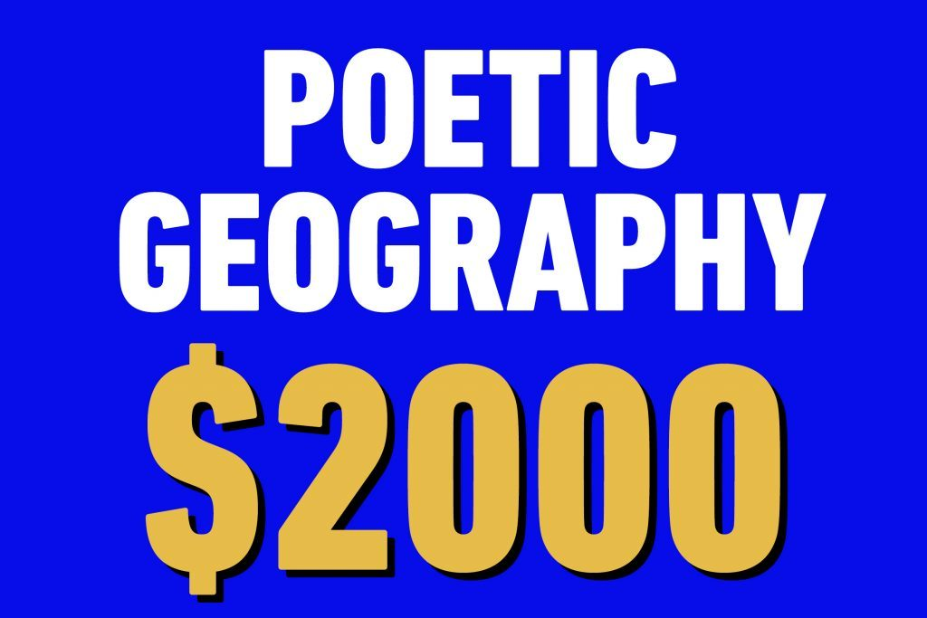 poetic geography 2000