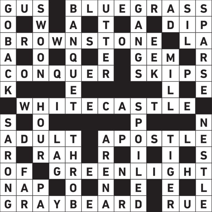 name themed crossword puzzle
