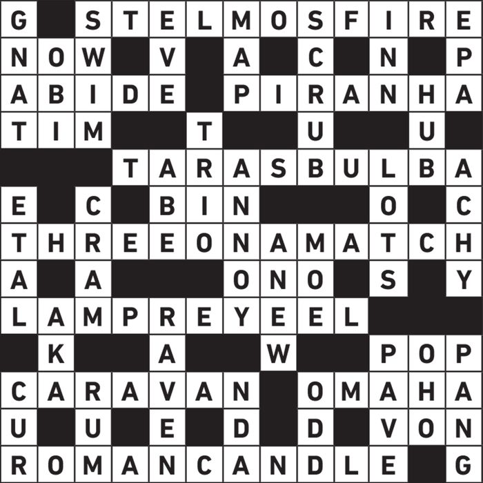 light sources themed crossword puzzle