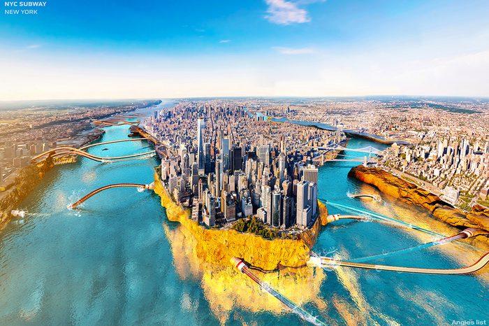 NYC cutaway