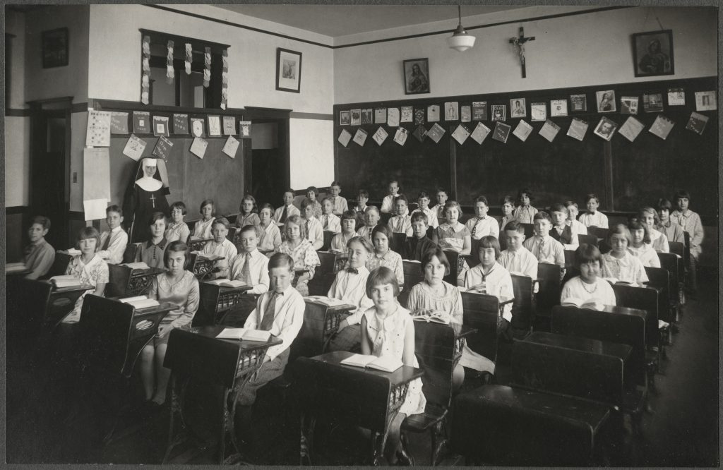 Catholic Elementary School Class Portrait, USA, circa 1930