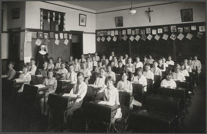 Catholic Elementary School Class Portrait, USA, circa 1930