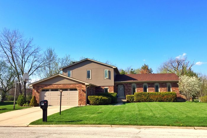 A very neat house with nicely landscaped in Illinois, Chicago,USA