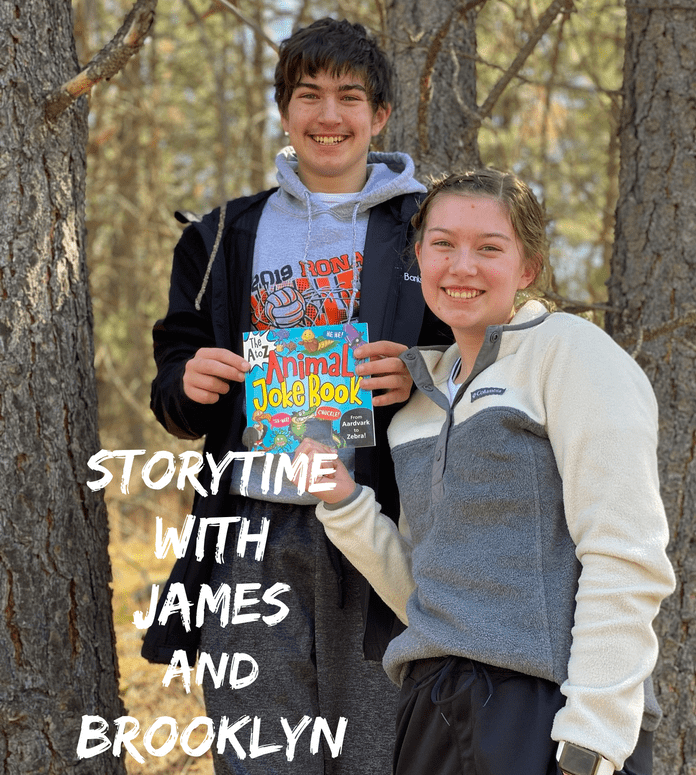 storytime with James and Brooklyn; Ronan, Montana