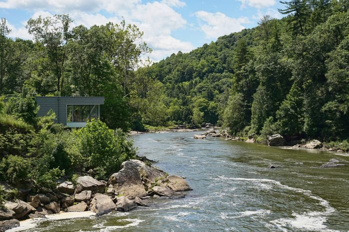 Beautiful Ohiopyle State Park located in Pennsylvania. Summer tourism and vacation destination.