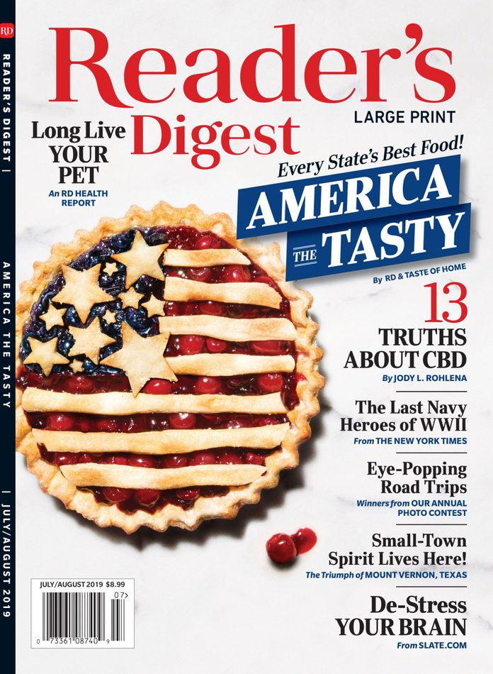 reader's digest print issue july/august 2019