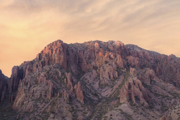 Chisos Basin Mountains Big Bend National Park at Sunset