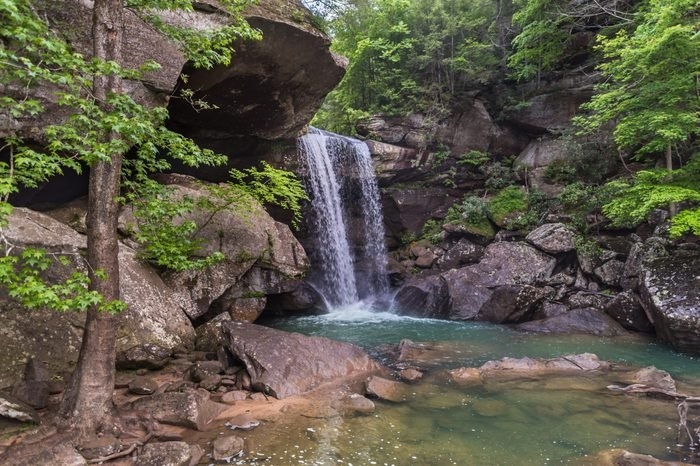Eagle Falls, in Cumberland Falls State Resort Park, near Corbin, Kentucky.