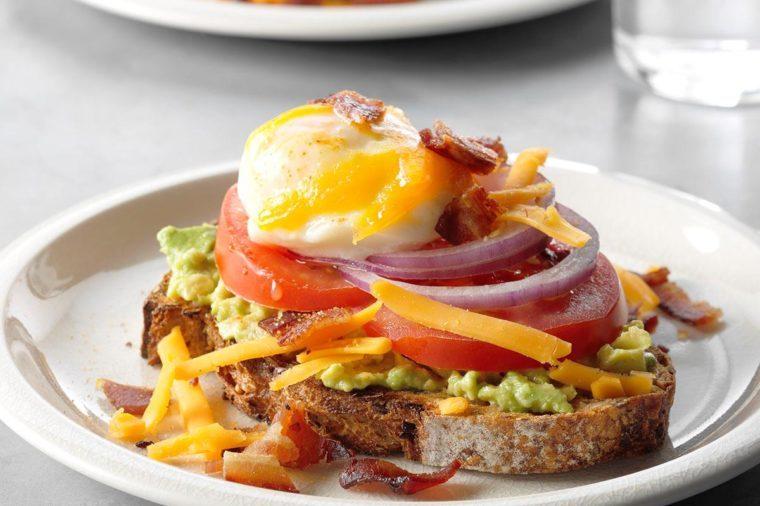 Egg topped avocado toast