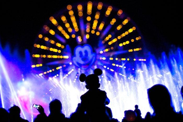 Hidden Mickey ears at Disney