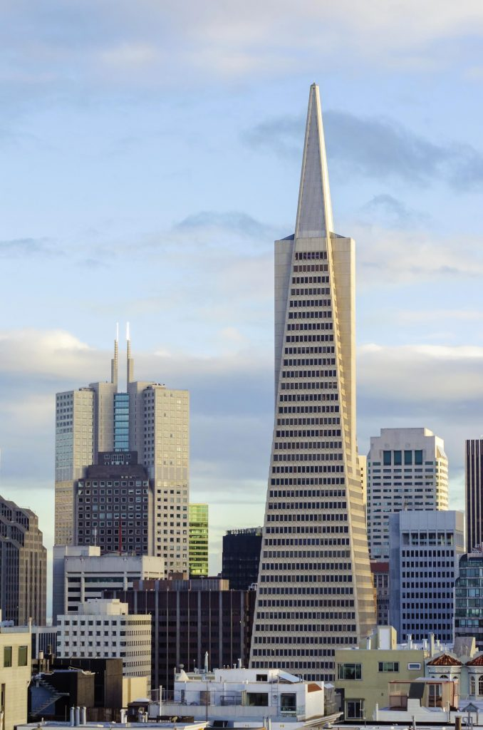 Transamerica Pyramid in California,