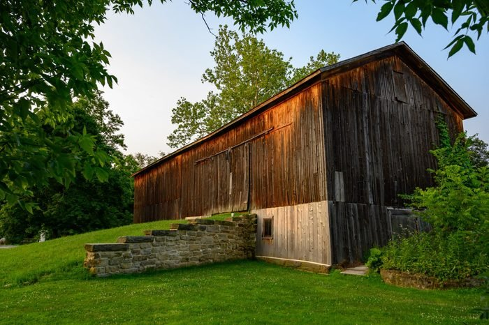Image of a Barn at Dusk at Cuyahoga Valley National Park in Ohio