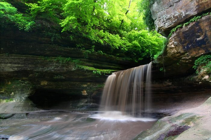Lasalle Falls at Starved Rock State Park in Illinois