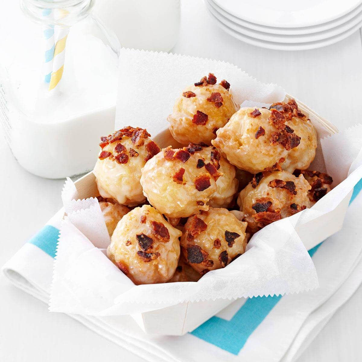 Maple-Bacon Doughnut Bites