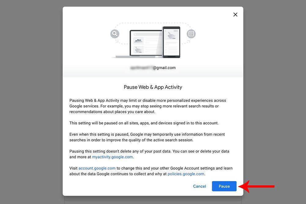 My Google Activity Pause Web And App Activity