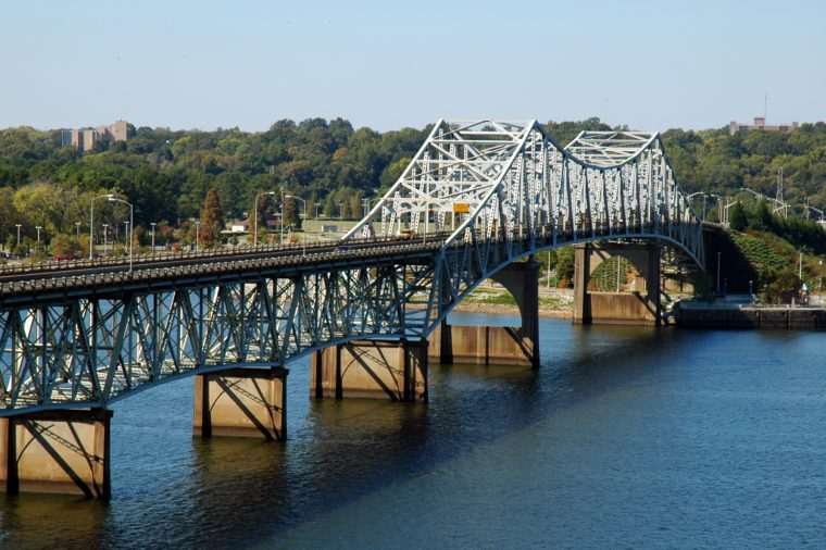 Oneal Bridge Spanning the Tennessee River between Florence and Sheffield Alabama