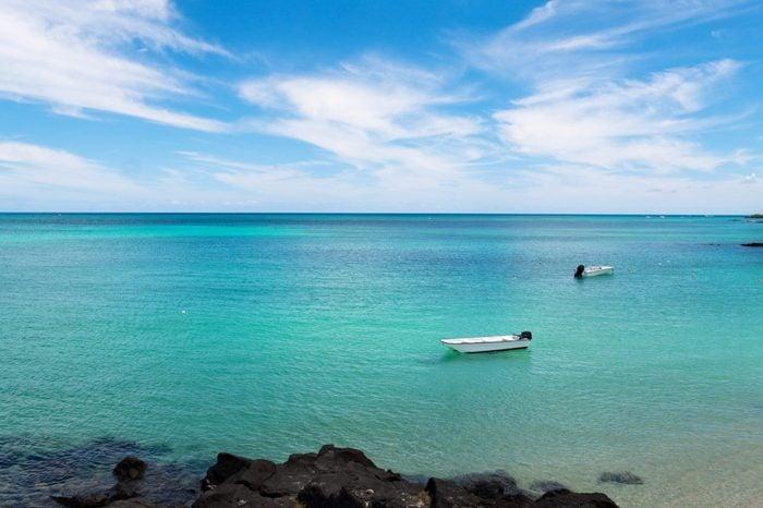 Peaceful coastal view, Mauritius island, Indian ocean