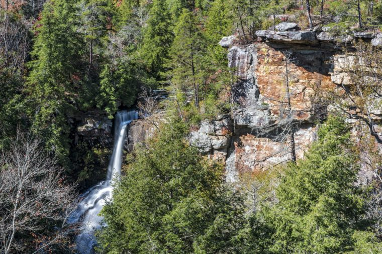 Piney Creek Falls At Fall Creek Falls State Park In Tennessee