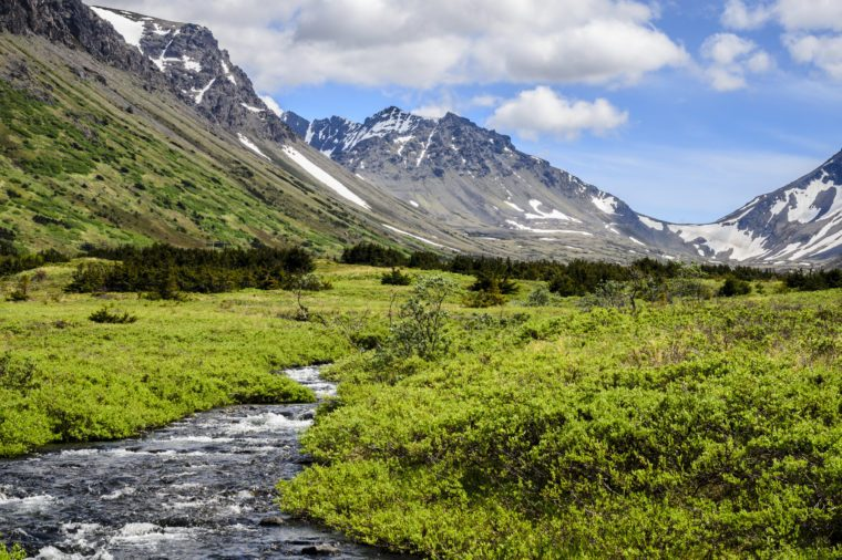 South Fork, Campbell Creek, in the Chugach Mountains, Anchorage, Alaska