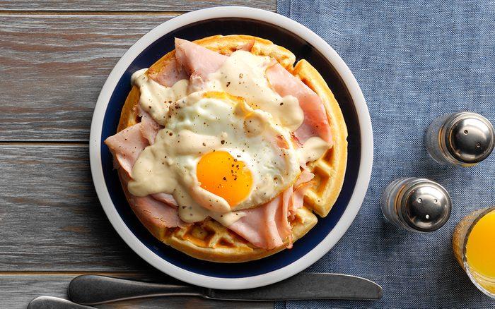 Croque-Madame Waffles