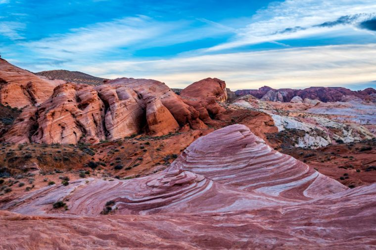 Valley of Fire. First Nevada's state park. One cold winter afternoon in January.