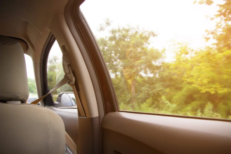 View from window car with sunlight - travel Concept