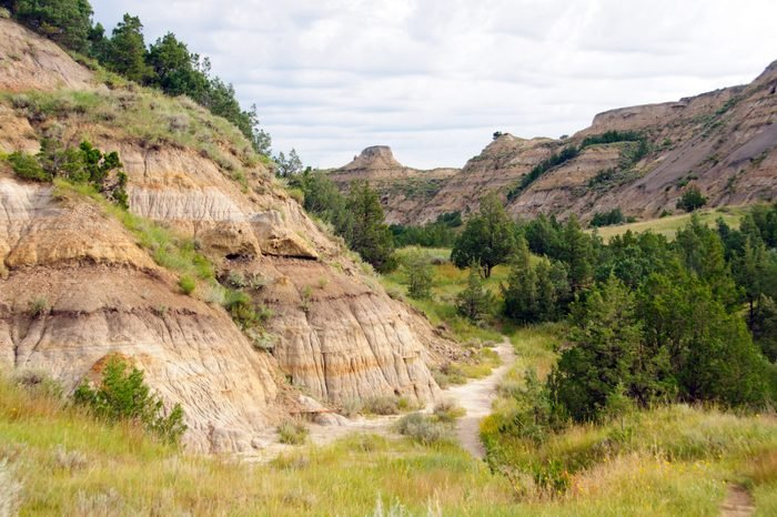 Wilderness trail in Theodore Roosevelt National Park