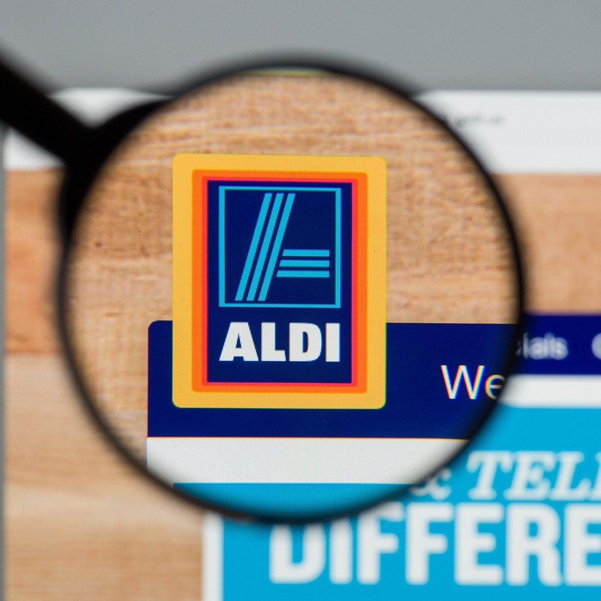 ALDI website homepage