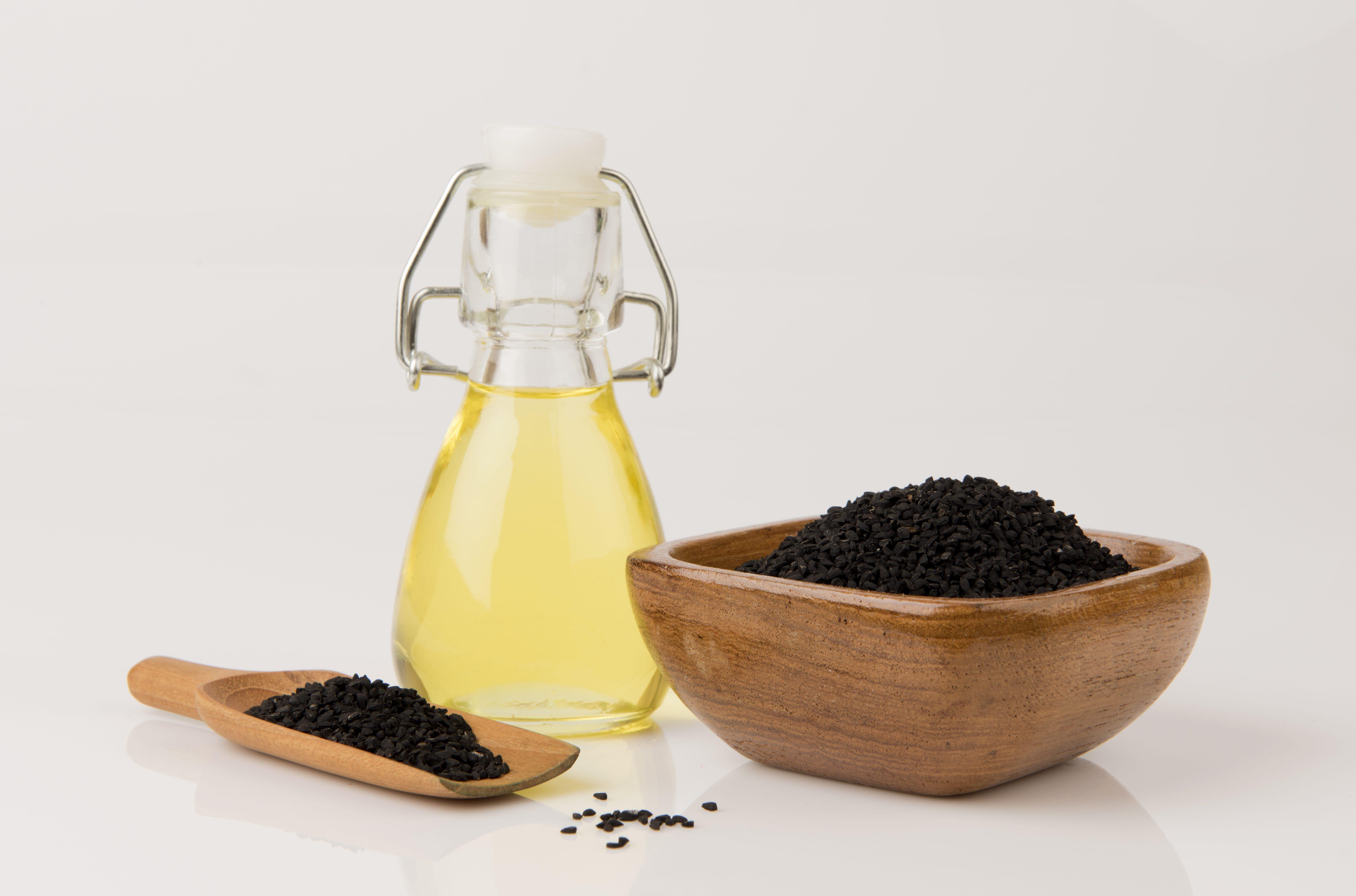 Nigella, Black Cumin, Black Caraway, Fennel flower, Nutmeg flower, Love in the mist, Roman coriander, Wild onion seed (Nigella sativa L.) oil and seeds.