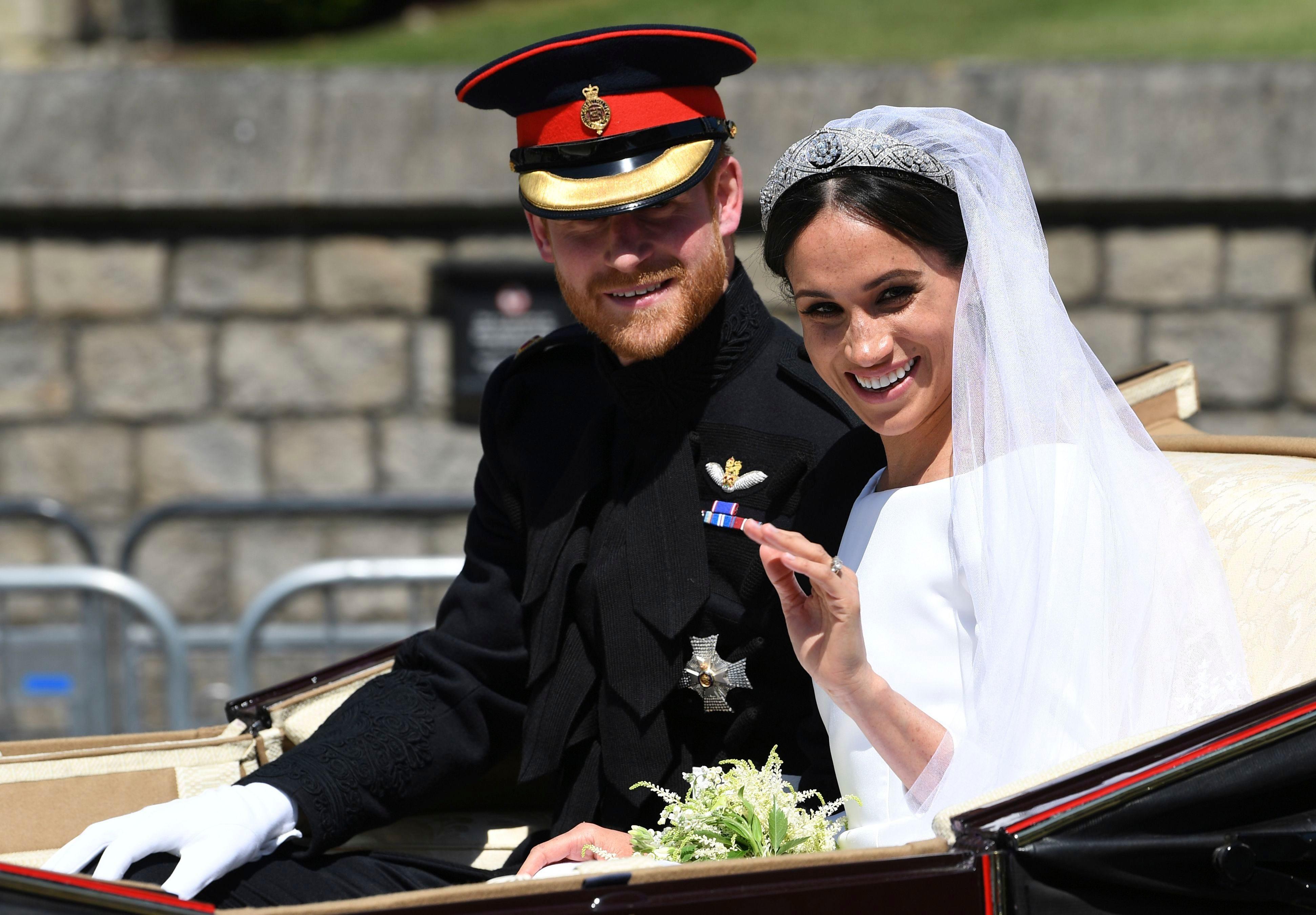 Meghan Markel in Wedding Dress