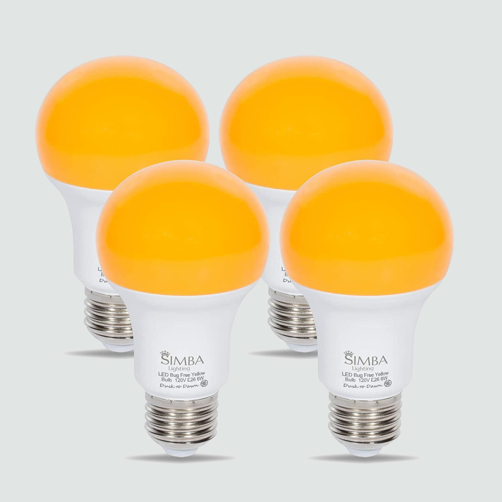 Simba Lighting LED Bug Repelling Yellow Bulb