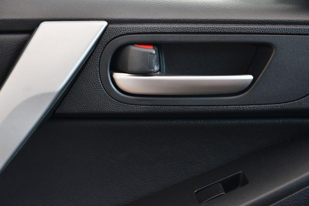 Door handle inside the car.