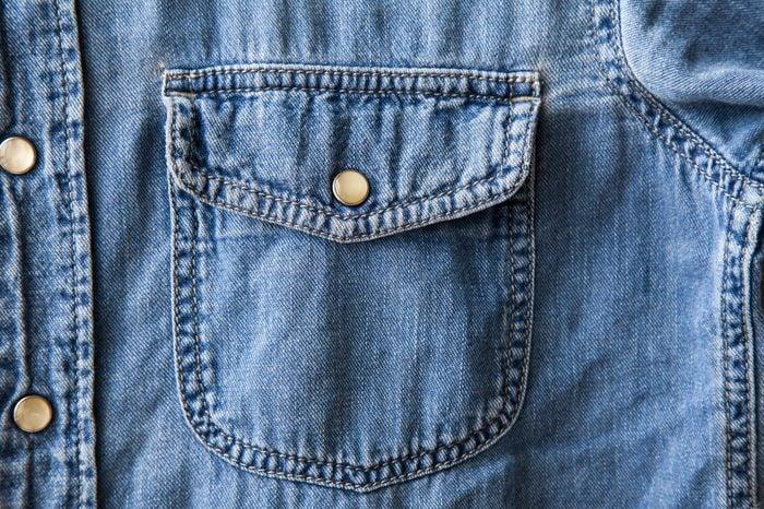 denim shirt pocket