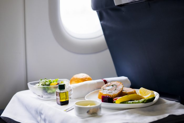 Lunch in a plane, transportation catering service