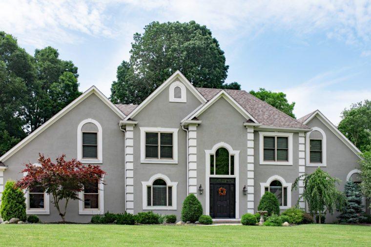 Beautiful Gray Stucco Luxury Home