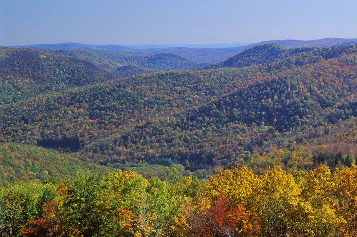 Berkshire Mountains in Autumn, Deerfield, Massachusetts