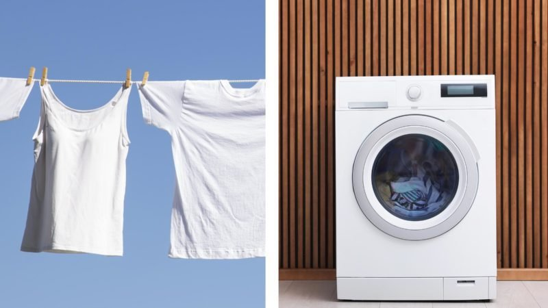 laundry dryer line dry clothes