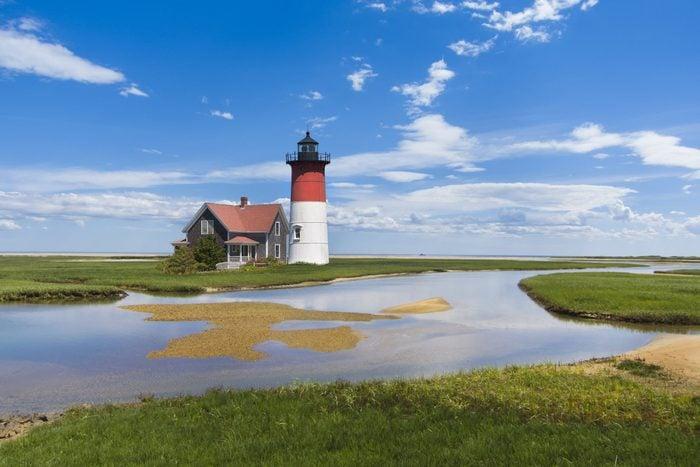 light house off the coast of Cape Cod, Massachusetts, USA