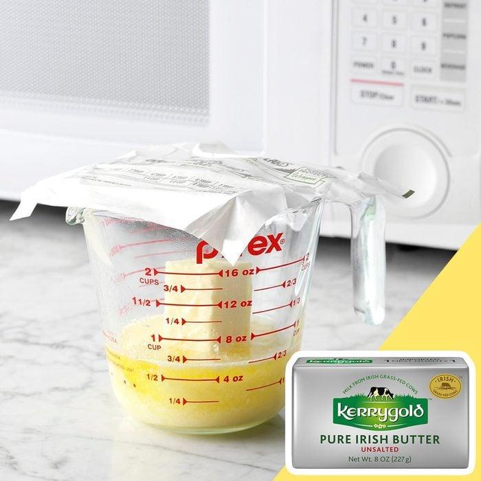 Melted butter kitchen hack