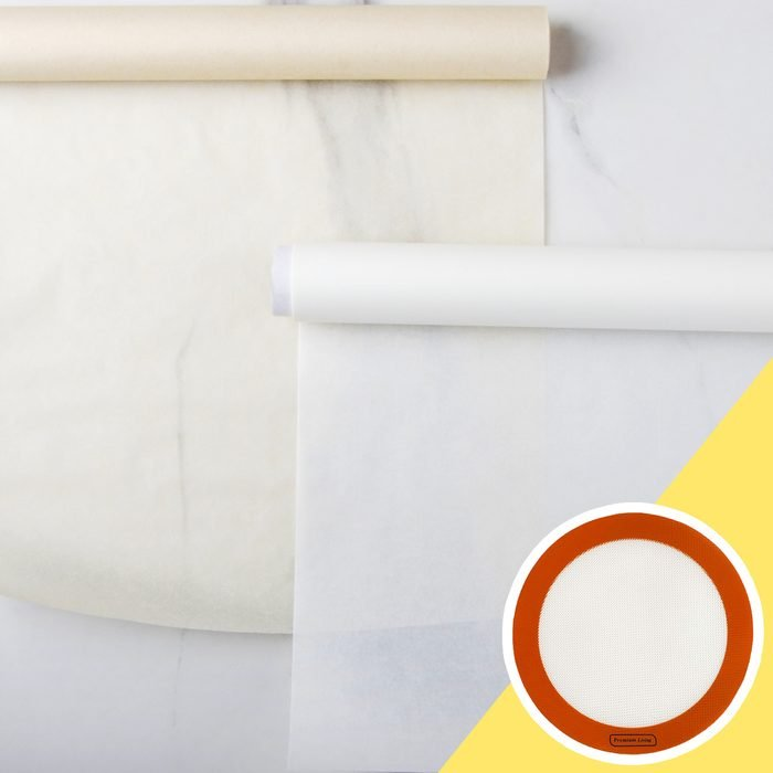 swap out parchment paper kitchen hack
