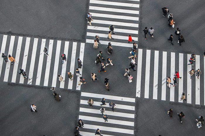 crosswalk,top view