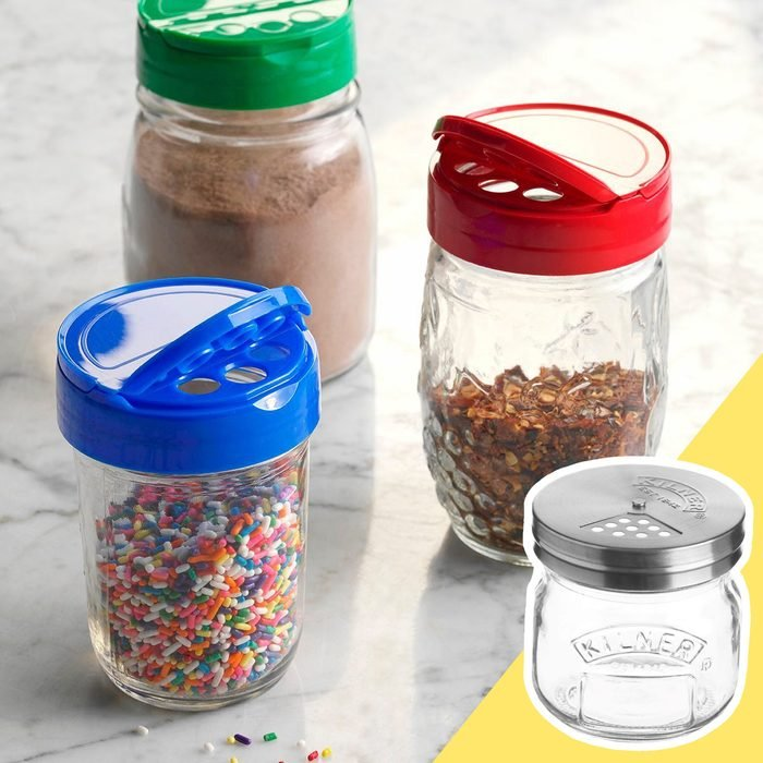 Shakers with inset of jar with shake lid